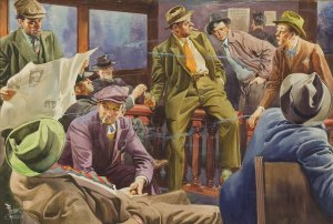 FRANK GODWIN (American, 1889-1959). The Press Room