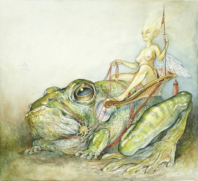 OMAR RAYYAN (American 20th Century). Frog Rider, 2006