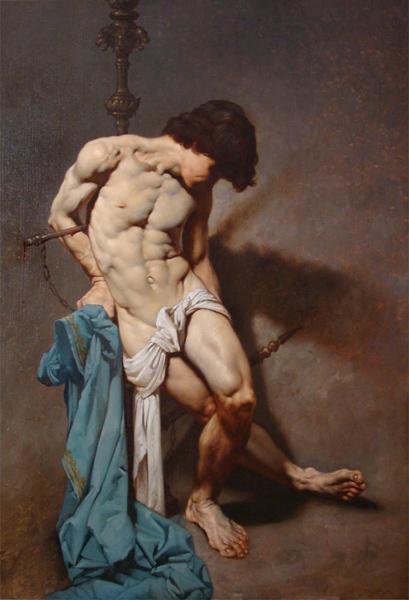 72 San Sebastiano olio su tela 100x70