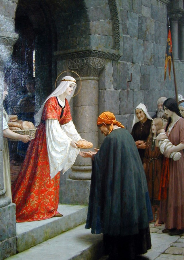 Edmund Blair Leighton, The Charity of St. Elizabeth of Hungary, 1895
