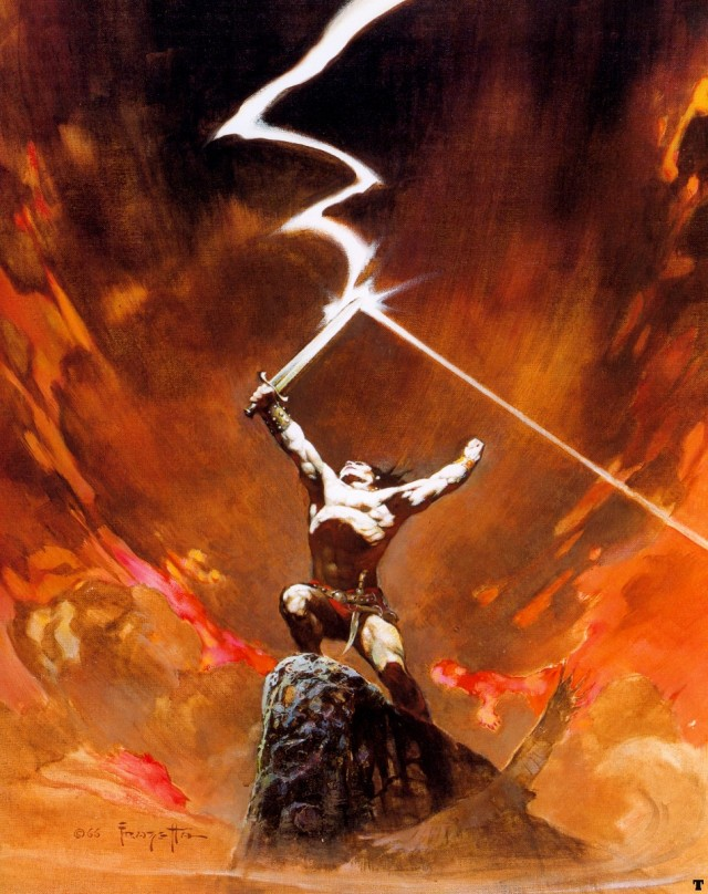 Frank Frazetta - Against the Gods