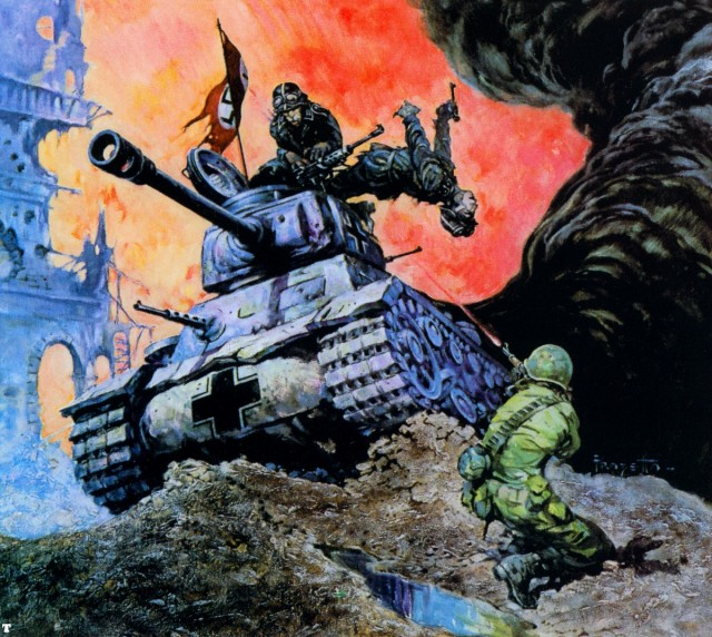 Frank Frazetta - Blazing Combat II