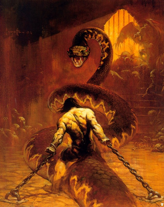 Frank Frazetta - Chained