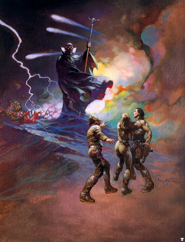Frank Frazetta - Darkness at Time's Edge