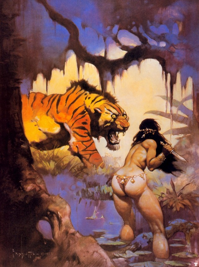 Frank Frazetta - Escape on Venus