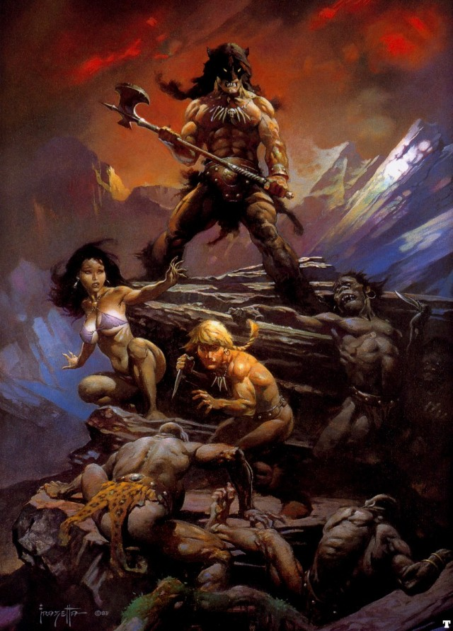 Frank Frazetta - Fire and Ice 1