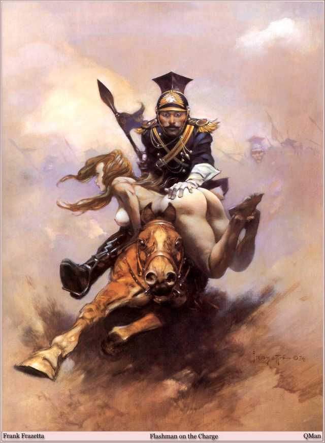 Frank Frazetta - Flashman on the Charge