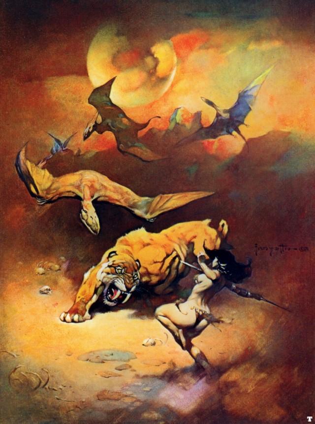 Frank Frazetta - Flying Reptiles