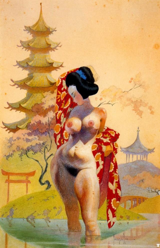 Frank Frazetta - Geisha