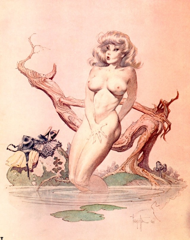 Frank Frazetta - Girl Bathing