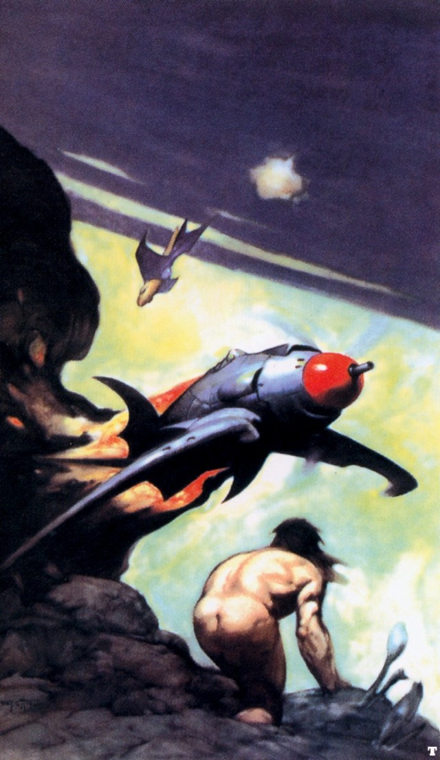 Frank Frazetta - God from the Sky 1