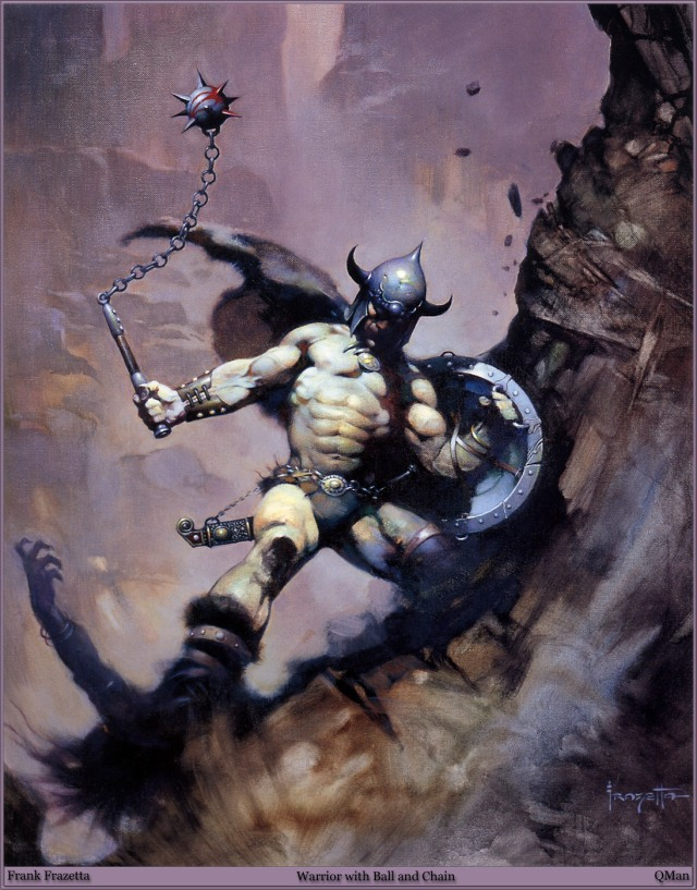 Frank Frazetta - Warrior with Ball and Chain