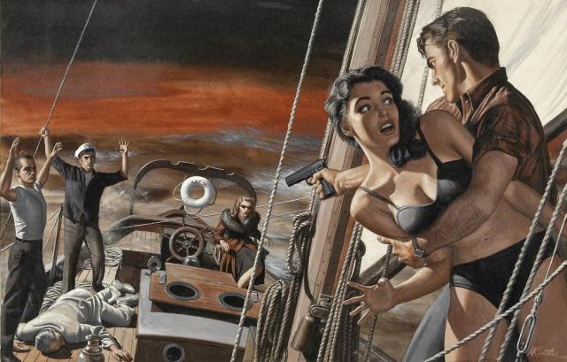 mort kunstler. taking over the boat. 001