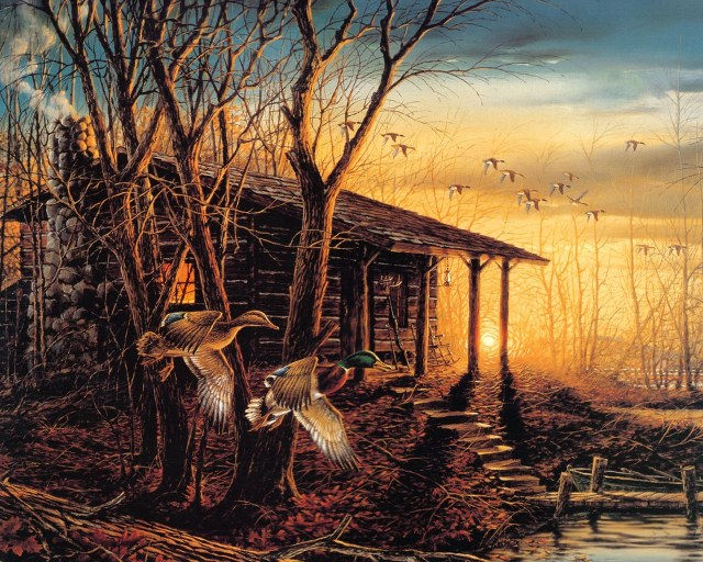 Terry_Redlin_Artwork_wallpaper_Morning_Retreat