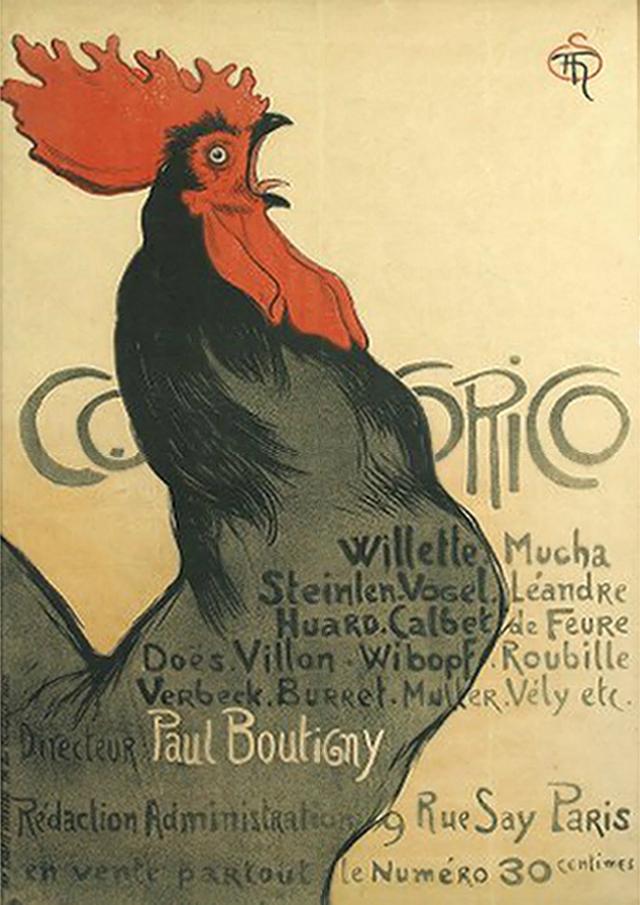 poster-swann_Cocorico_Theophile-Alexandre_Steinlen_circa_1899