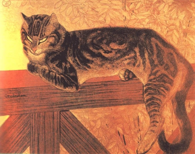 Theophile-Alexandre-Steinlen-xx-Cat-on-a-Balustrade-Summer-xx-Private-Collection