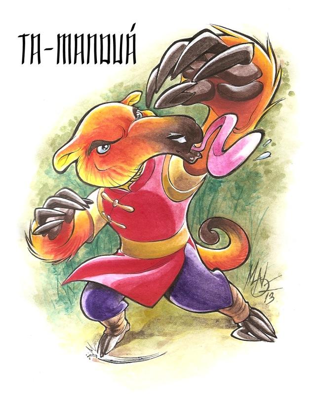 mascote Quanta-13