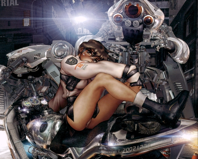 Masamune-Shirow-artist-Galhoun-masamune-shirow-bike_b8038