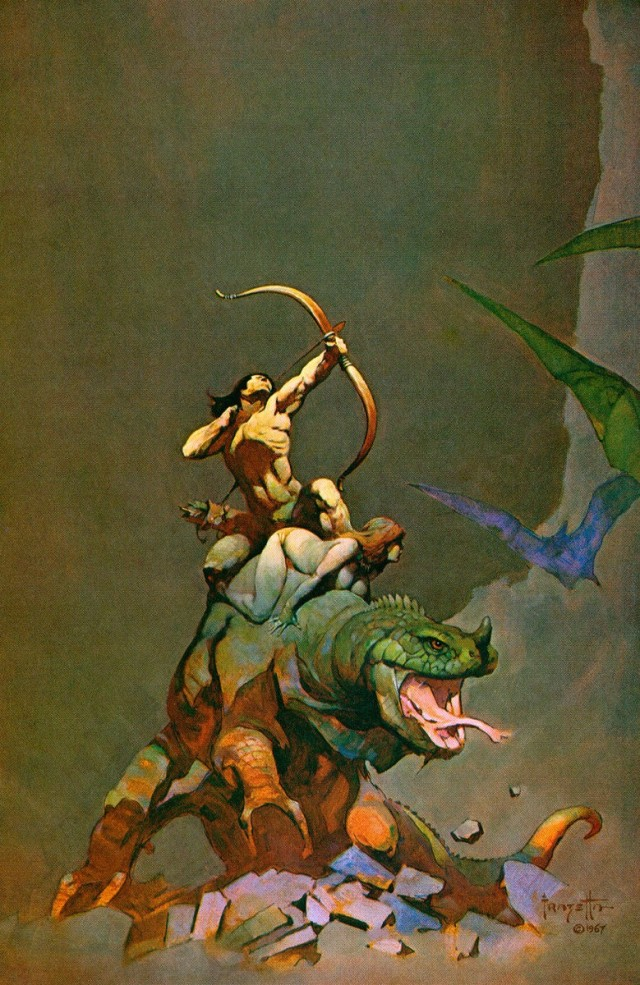 Frank Frazetta - Jongor Fights Back
