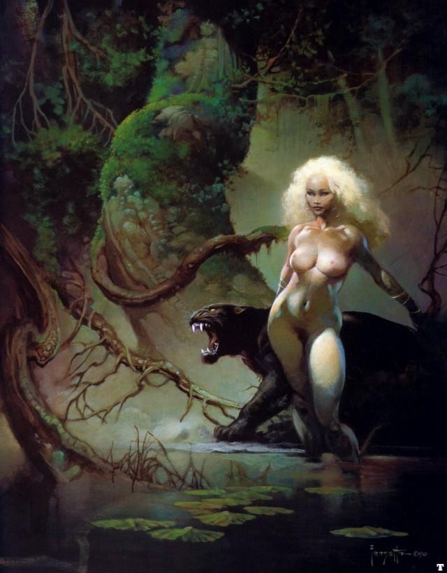 Frank Frazetta - Princess and the Panther