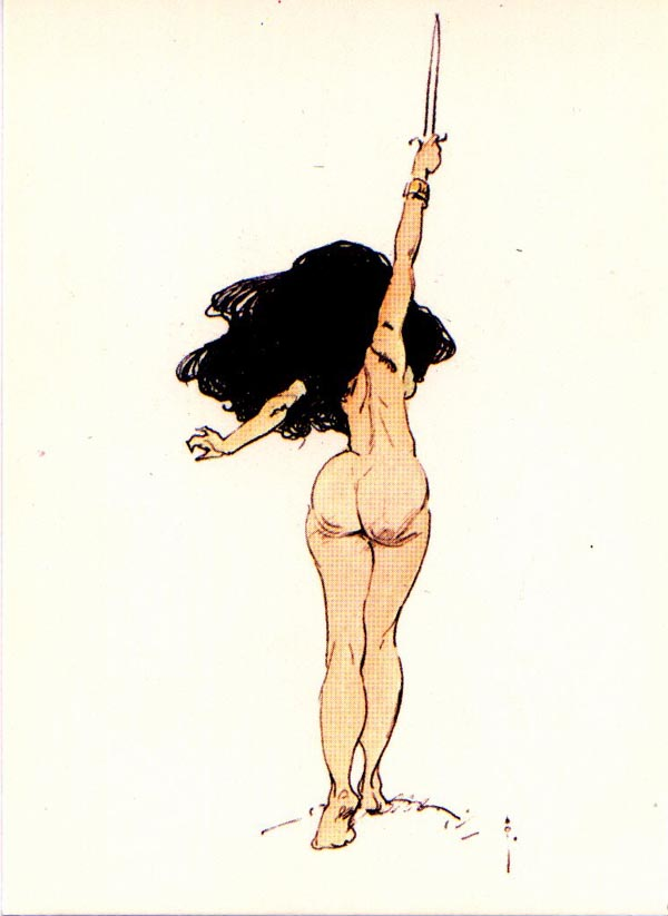 Frank Frazetta - Raised Dagger