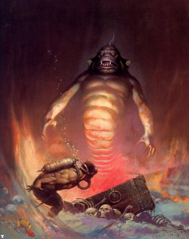 Frank Frazetta - Sea Monster
