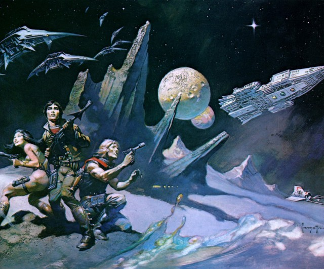 Frank Frazetta - Space Attack I