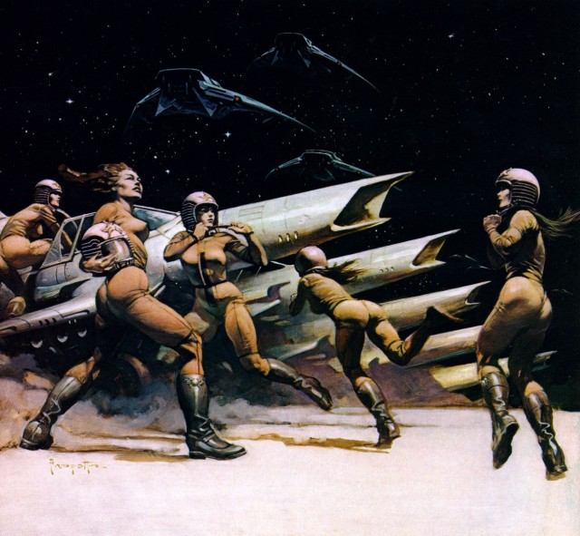 Frank Frazetta - Space Attack II