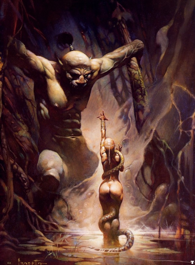 Frank Frazetta - Swamp Demon I