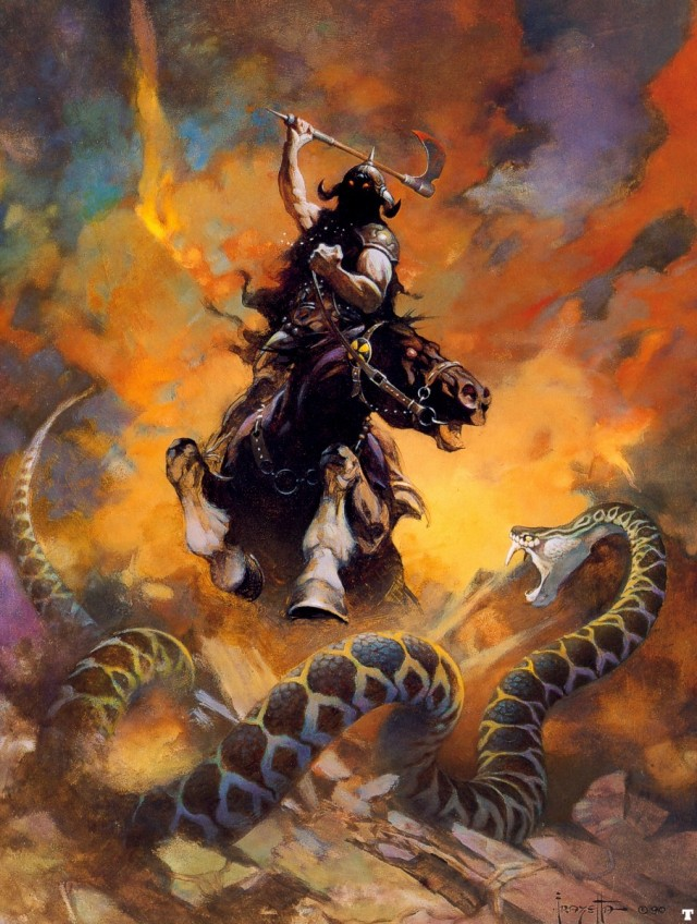 Frank Frazetta - The Death Dealer VI