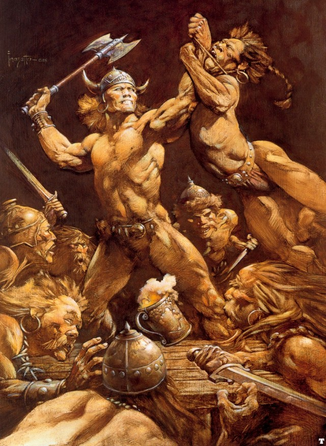 Frank Frazetta - The Disagreement