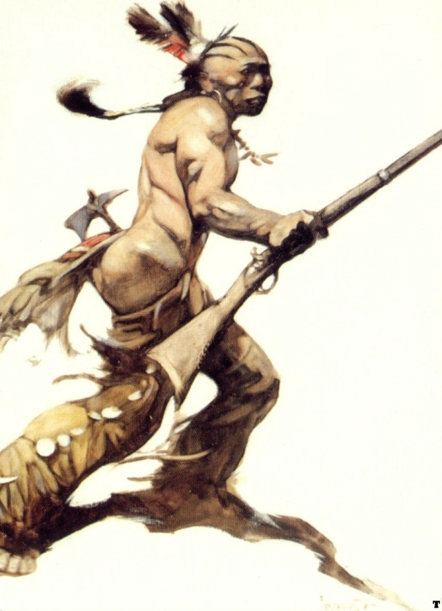 Frank Frazetta - The Indian Brave