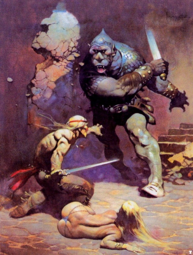 Frank Frazetta - The Moon Men