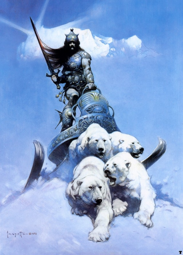 Frank Frazetta - The Silver Warrior