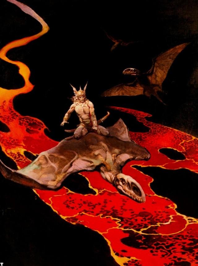 Frank Frazetta - Thor's Flight