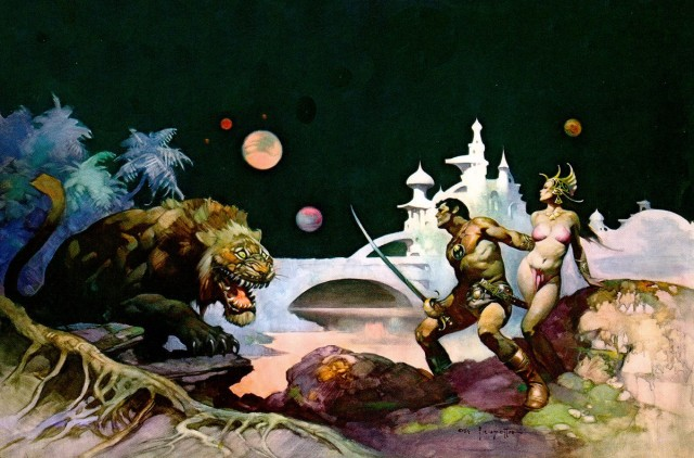 Frank Frazetta - Thuvia, Maid of Mars
