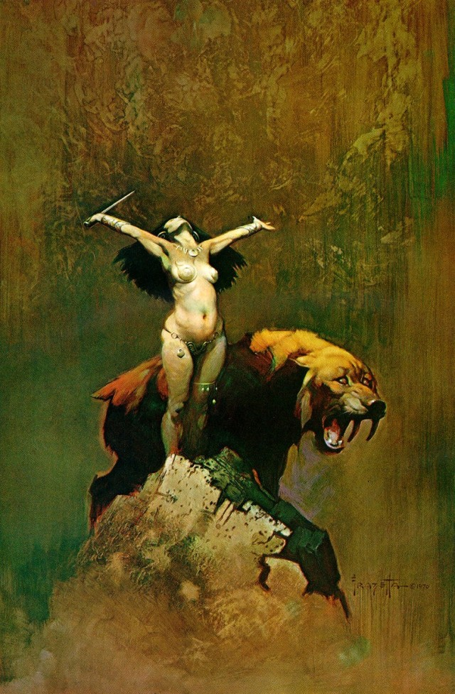Frank Frazetta - Tiger Woman