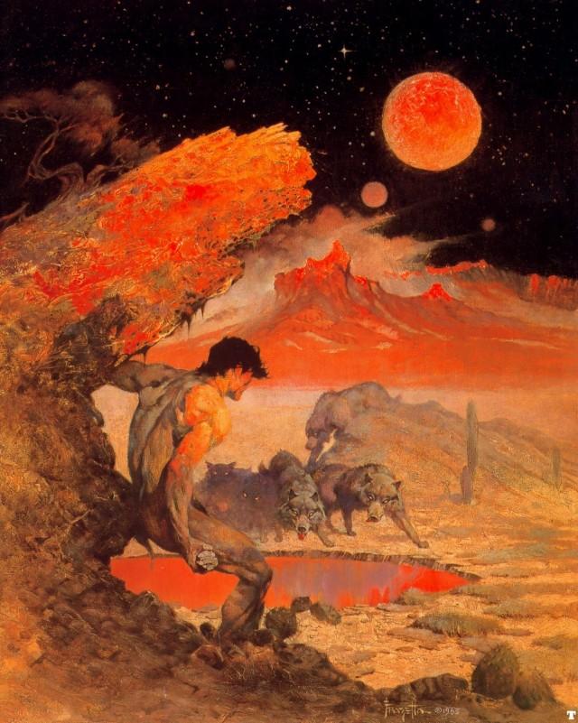 Frank Frazetta - Wolf Moon 1