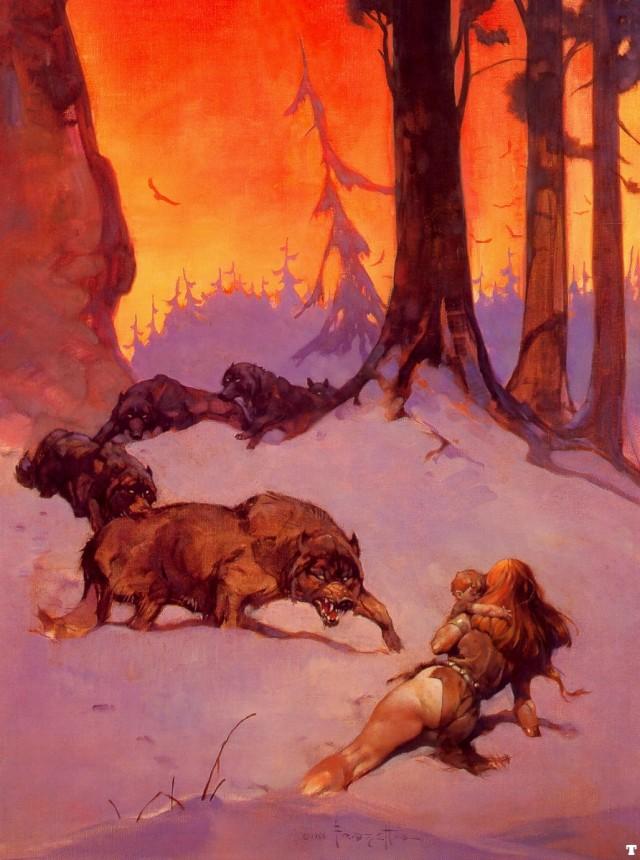 Frank Frazetta - Wolf Pack