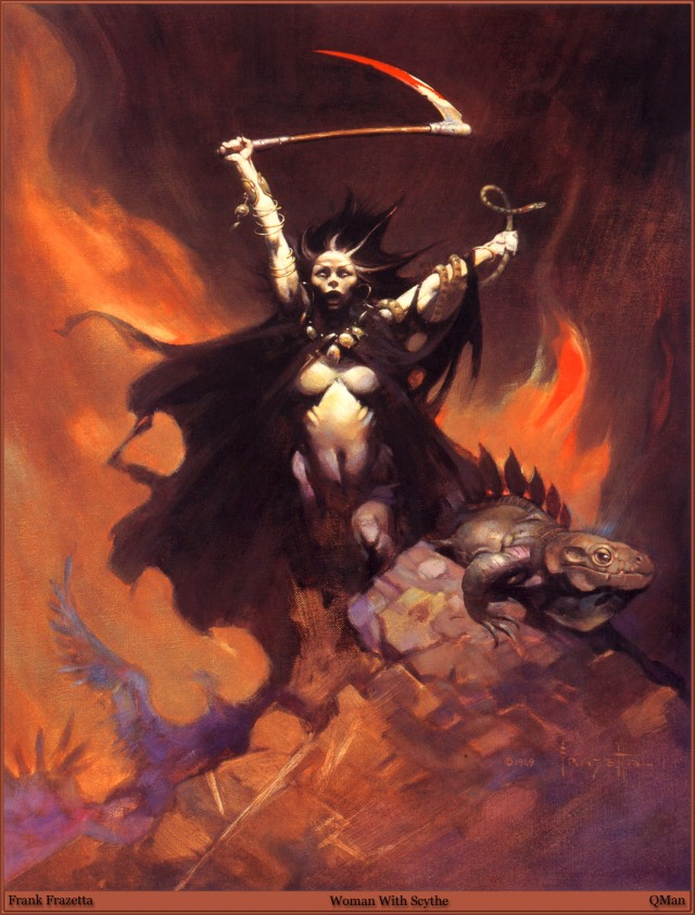 Frank Frazetta - Woman with Scythe