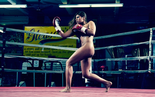 MARLEN ESPARZA Photographed by Peter Hapak on Monday June 3, Gleason's Gym, Brooklyn, NY Photographer: Peter Hapak Producer: (no producer) Kristen Schaefer Geisler Hair: Jonathan Mason / Artists by Timothy Priano Makeup: Tiffany Saxby / Factory Downtown Prop Stylist: (no prop stylist)