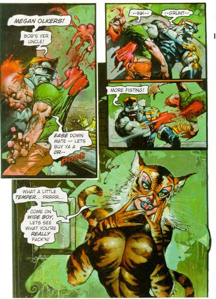 Megan Olkers|Simon Bisley draws Simon Coldwater fighting|Simon Coldwater|simon coldwater