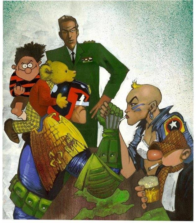 British comics icons painted by Simon Bisley2