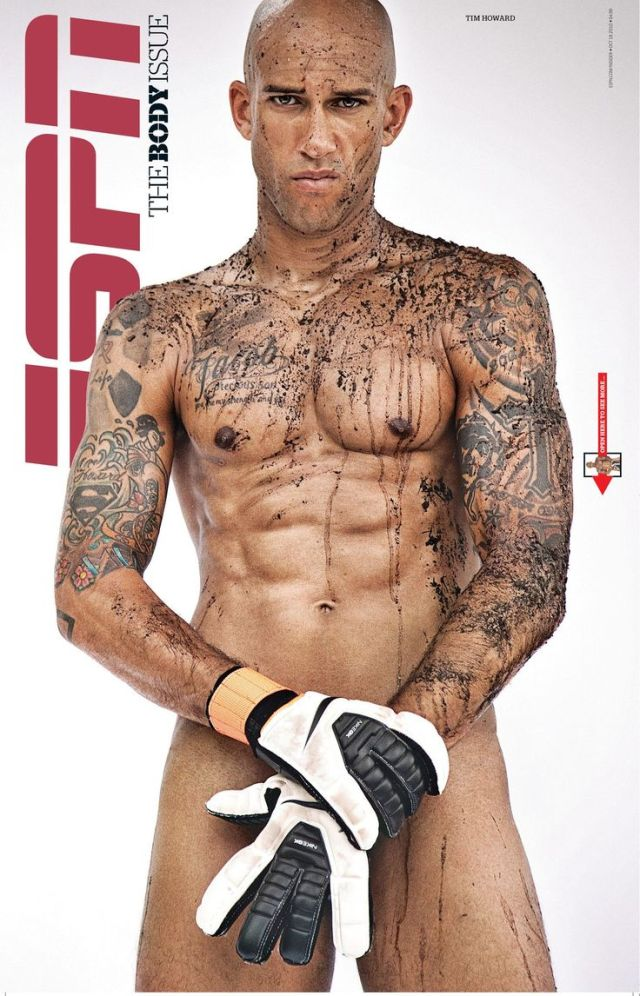 2010 -- ESPN The Magazine -- The Body Issue -- Tim Howard goalkeeper for Everton and the U.S. National Men's Soccer Team