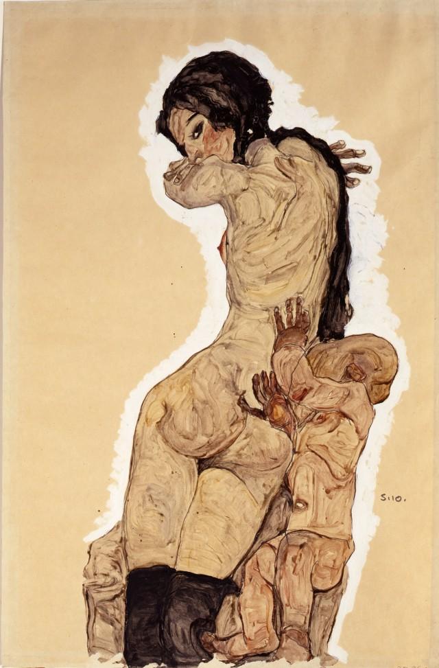 Egon-Schiele-Woman-with-Homunculus-1910
