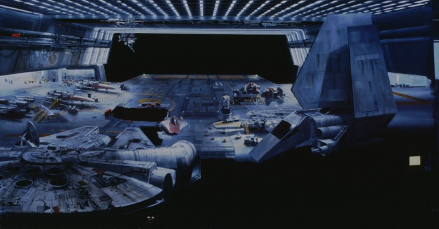 """Return of the Jedi"" 1983Matte painting by Mike Pangrazio"