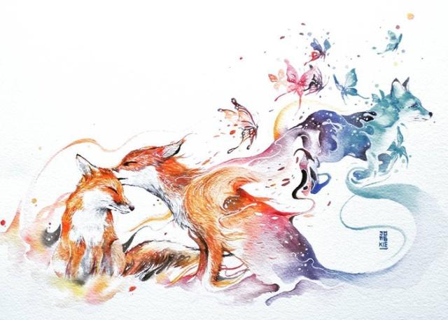 Beautiful-Watercolor-Animal-Illustrations-by-Luqman-Reza-Mulyono-01