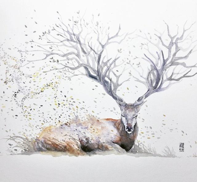 Beautiful-Watercolor-Animal-Illustrations-by-Luqman-Reza-Mulyono-02