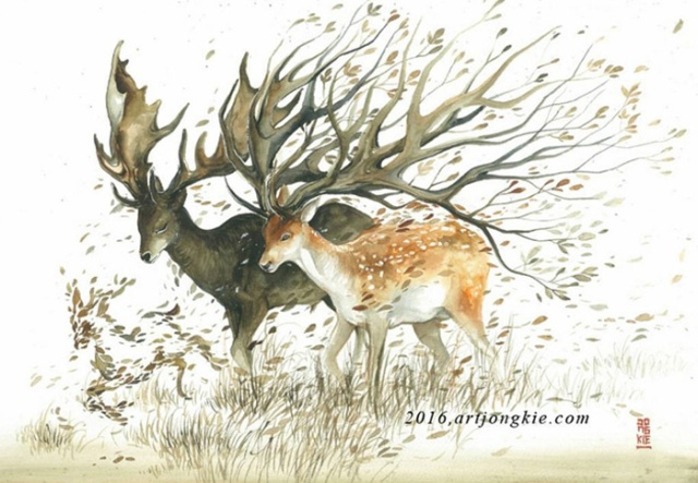 Beautiful-Watercolor-Animal-Illustrations-by-Luqman-Reza-Mulyono-05