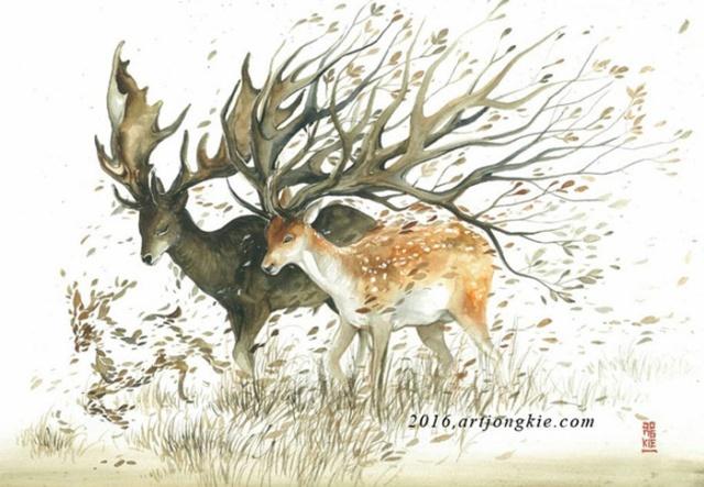 Beautiful-Watercolor-Animal-Illustrations-by-Luqman-Reza-Mulyono-05